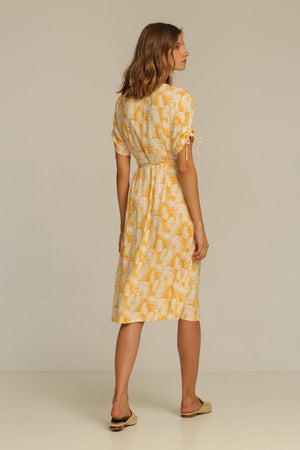 Rue Stiic Josey Midi wrap Dress | PIPE AND ROW Seattle  honey palm Boutique