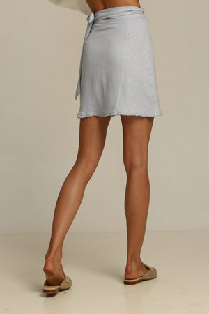 Rue Stiic Calexico mini wrap skirt in bluebell | Pipe and Row