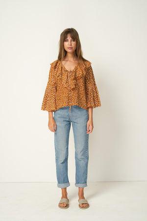 Rue Stiic Clark Blouse in Colorado daisy desert sun ethically made | pipe and row