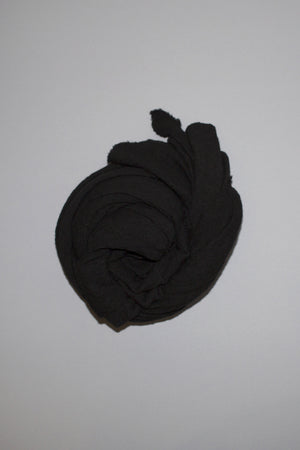 SCARF SHOP WOOL CLOUD BLANKET SCARF BLACK HAND DYED | PIPE AND ROW SEATTLE GIFT