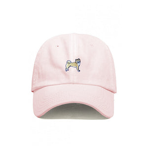 DOG LIMITED SHIBA INU EMBROIDERED DAD HAT PINK | PIPE AND ROW