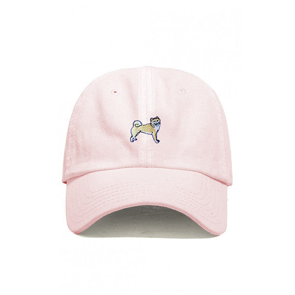 DOG LIMITED SHIBA INU EMBROIDERED DAD HAT WHITE | PIPE AND ROW