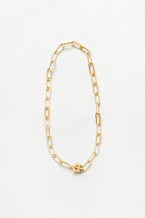 Wolf Circus Simone  gold chunky chain necklace paisley toggle | Pipe and row
