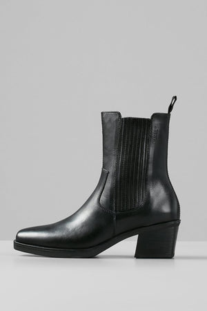 simone boots black leather vagabond | pipe and row shoes
