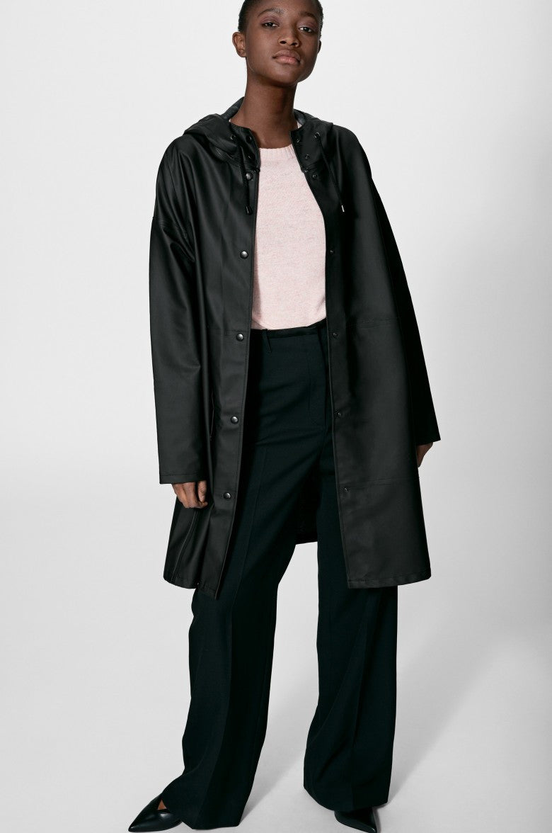 STUTTERHEIM SOLNA RAIN JACKET BLACK | PIPE AND ROW SEATTLE