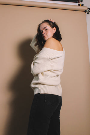 Just Female Sophie knit cardigan white | pipe and row