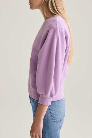 Agolde Thora cropped sweatshirt voluminous Lunar purple | Pipe and Row