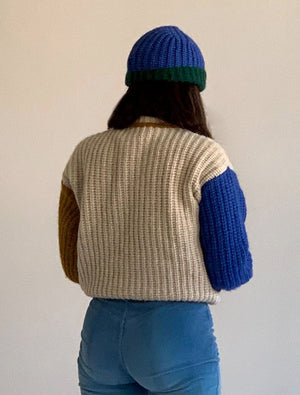 Paloma Wool Frigo color chunky block sweater light biege | PIPE AND ROW boutique seattle pipeandrow.com