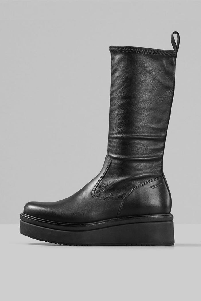 Vagabond Tara stretch leather boots 90's black | Pipe and Row Boutique
