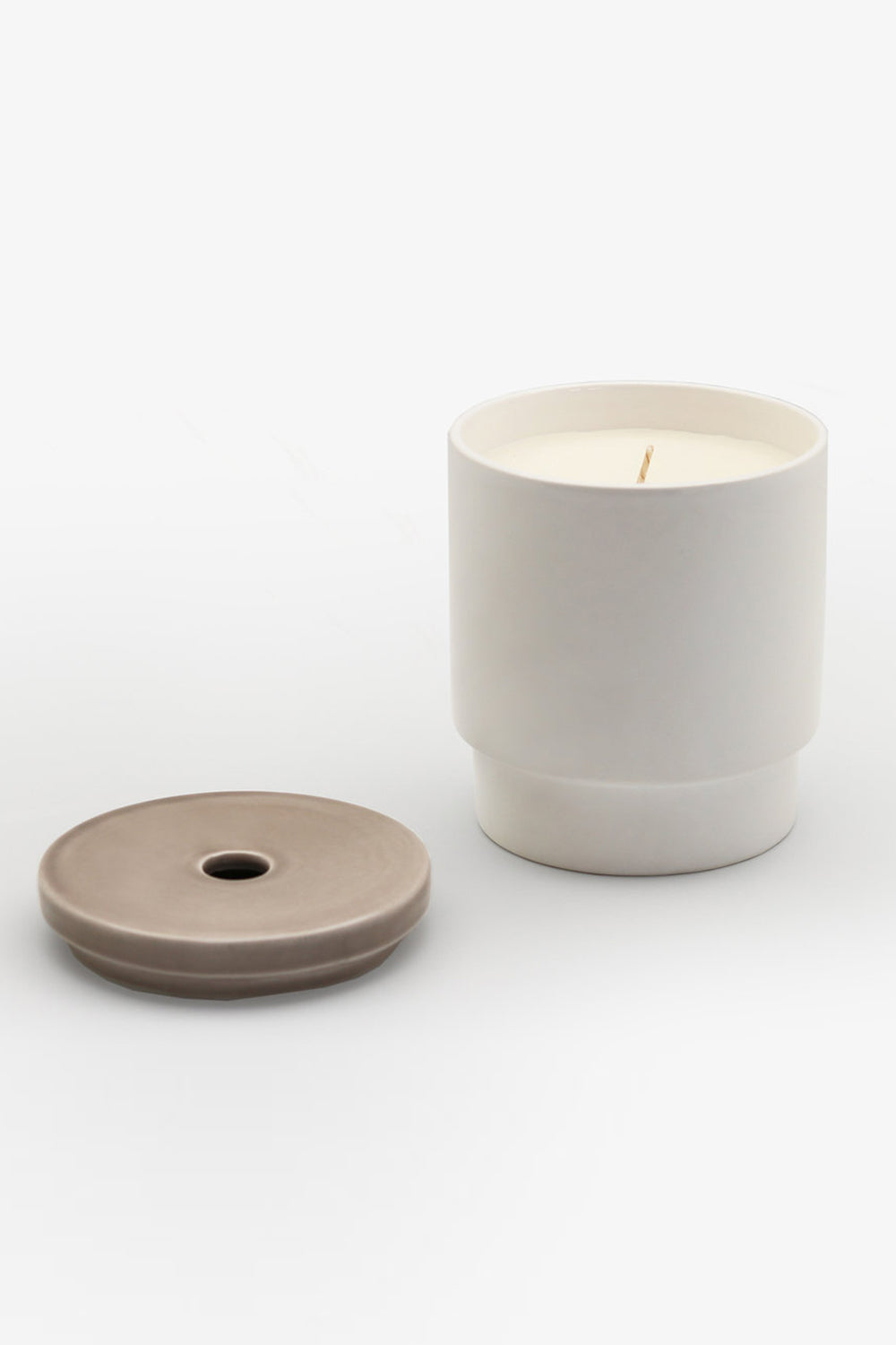 Night Space Taupe rose de mai, ylang, pale woods candle | PIPE AND ROW