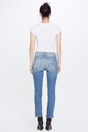 The Mother Denim Dutchie Ankle in Love Experiment classic straight old school wash pipe and row