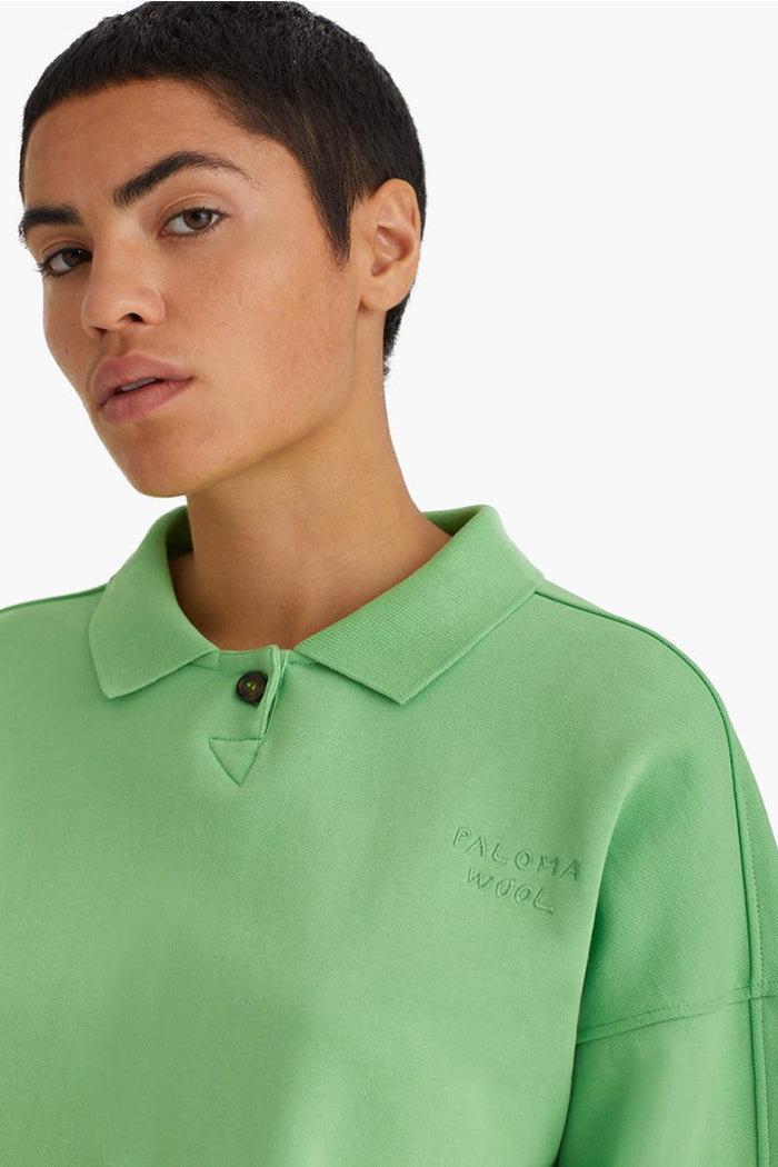Paloma Wool Tiger polo mint green organic cotton | Pipe and Row boutique