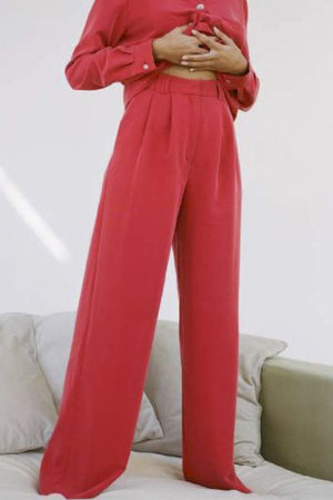 Paloma Wool Tuco wide leg trousers red | PIPE AND ROW boutique Seattle