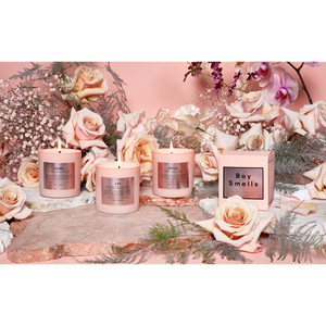 Boy Smells Kush petal LES candle in limited edition pink valentines day | pipe and row