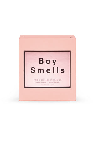 Boy Smells candle in limited edition pink valentines day | pipe and row