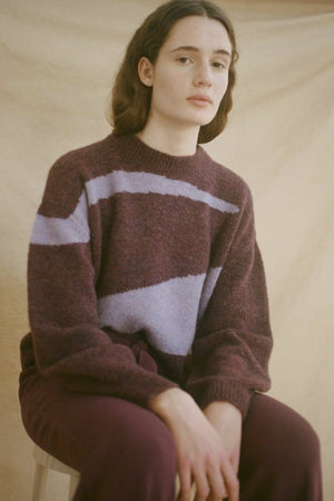 Paloma Wool Vega mauve cropped sweater | PIPE AND ROW