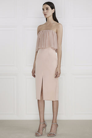 KEEPSAKE WHITE LIES DRESS BLUSH PINK | PIPE AND ROW