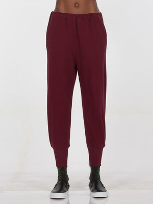 Winona Sweatpants burgundy joggers Drifter | Pipe and Row