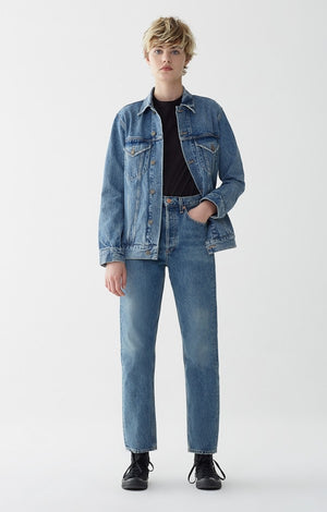 90's mid rise loose fit dazed agolde | pipe and row