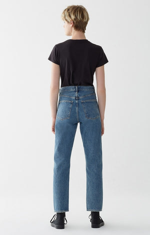 90's mid rise loose fit dazed blue plain agolde | pipe and row
