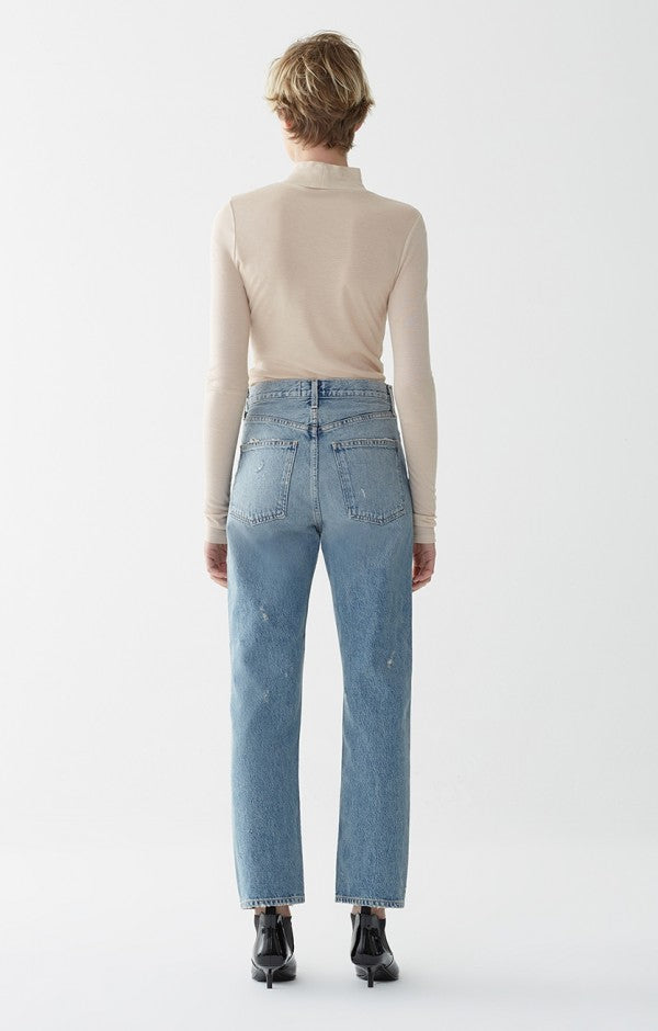 90's mid rise loose fit jeans light blue Reunion Agolde | PIPE AND ROW