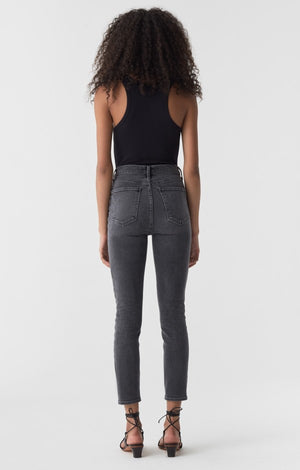 Agolde Nico high rise in washed out black denim Arena wash true vintage look | pipe and row
