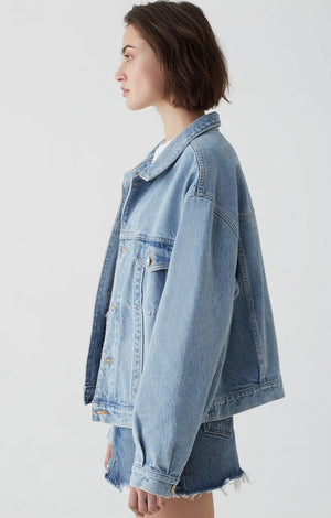 CHARLI OVERSIZED DENIM JACKET HEED