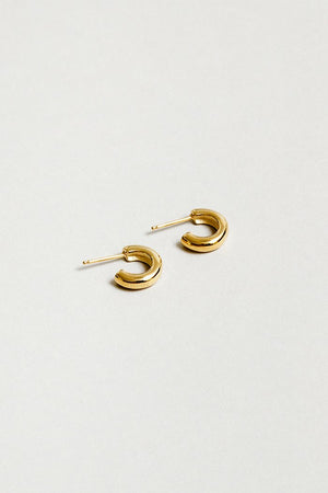 Wolf Circus Abbie small gold hoops Simple bold layering | pipe and row