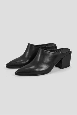 Vagabond Adrianna leather black mules PIPE AND ROW Seattle Fremont boutique