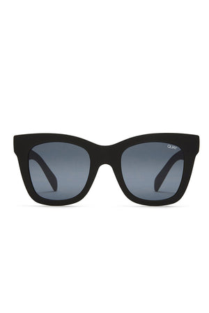 Quay After Hours sunglasses matte black smoke lens | Pipe and Row