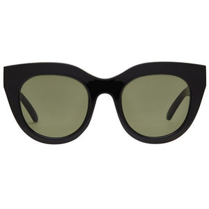 air heart le specs black gold cat eye sunglasses | pipe and row