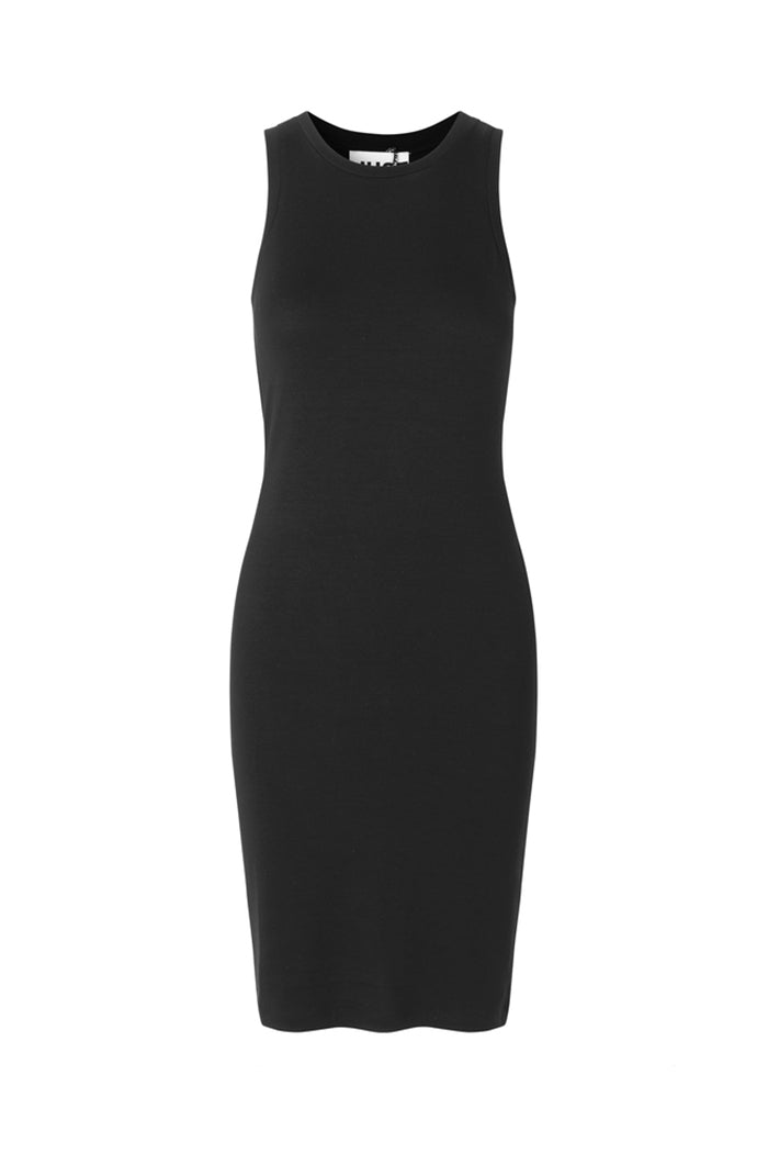 Just Ash double layered fitted black jersey dress | PIPE AND ROW boutique Seattle