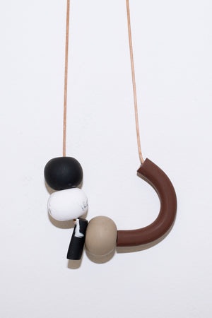 atonal black necklace sea and pattern | pipe and row