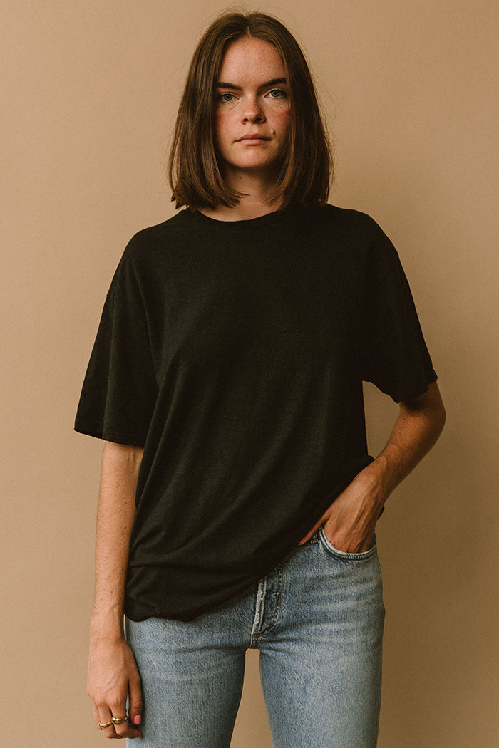 Filosofia oversized Avery t-shirt raw sienna tee hemp organic cotton | pipe and row