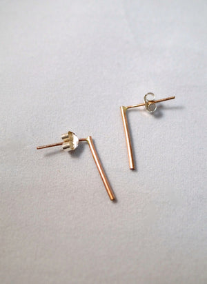 LONG BAR EARRING GOLD