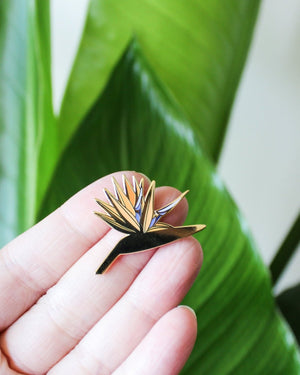 bird of paradise plant enamel pin Hemleva | Pipe and Row Seattle