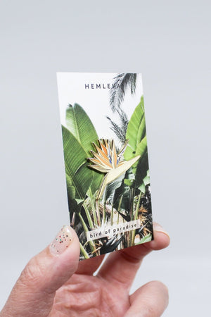 bird of paradise plant enamel pin Hemleva | Pipe and Row