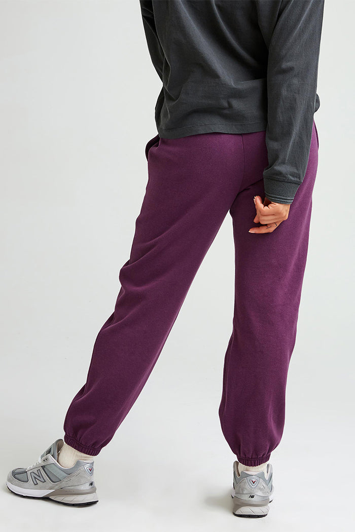 Richer Poorer fleece jogger recycled heavy blackberry wine weight thick sweatpants soft warm grey | pipe and row fremont seattle
