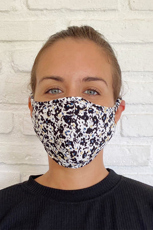 FACE MASK BLACK MUSEO FLORAL