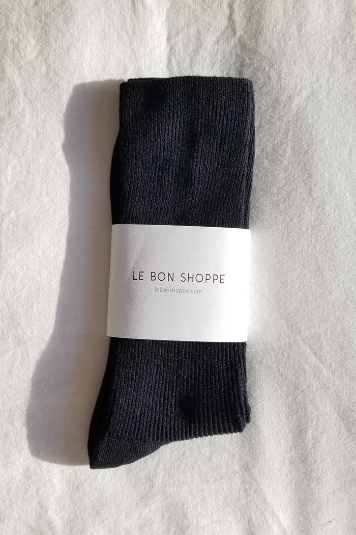 Le Bon Shoppe Trouser socks ribbed black | pipe and row seattle pipeandrow.com