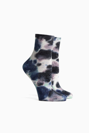 Richer Poorer psych tie dye socks in blue night | pipe and row