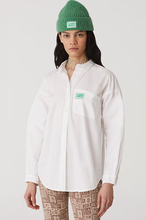 Paloma Wool Oversized poplin shirt organic cotton white | pipe and row