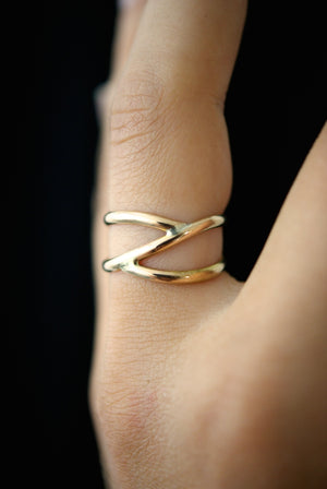 branch ring gold handmade portland hannah naomi | pipe and row