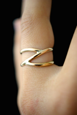 branch ring 14k gold fill hannah naomi | pipe and row