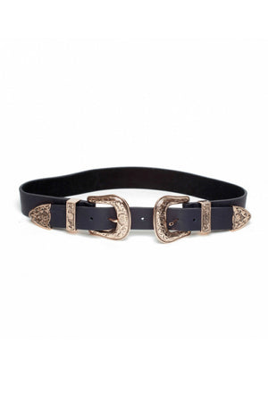 BRI BRI DOUBLE BUCKLE BELT ROSE GOLD