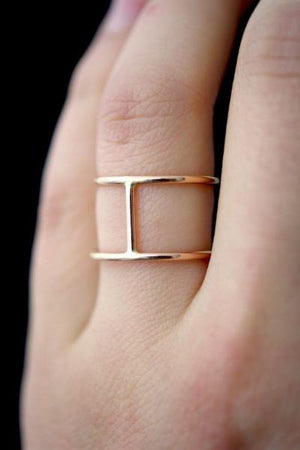 cage ring gold hannah naomi | pipe and row