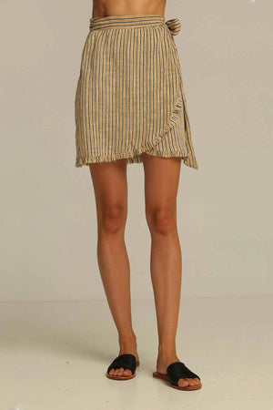 CALEXICO WRAP SKIRT SAND STRIPE