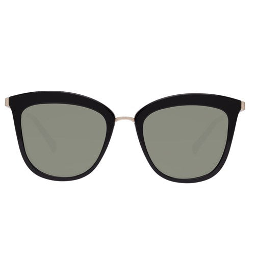 classic cat eye caliente sunglasses black gold le specs | pipe and row