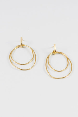 Wolf Circus Camilla double hoop earrings gold | PIPE AND ROW boutique Seattle