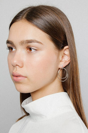 Wolf Circus Camilla double hoop earrings sterling silver | PIPE AND ROW Seattle